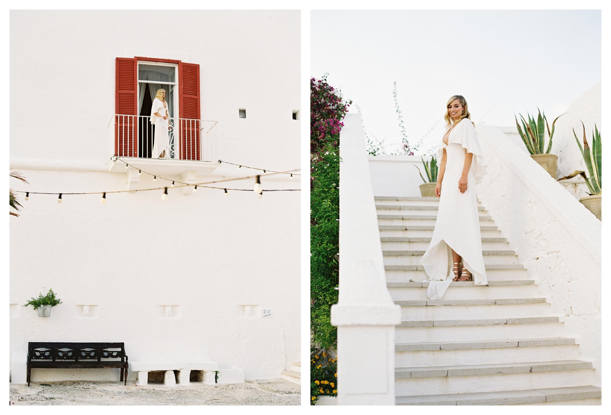 bride portrait, alexandra grecco wedding dress, masseria wedding, puglia wedding, masseria torre coccaro wedding