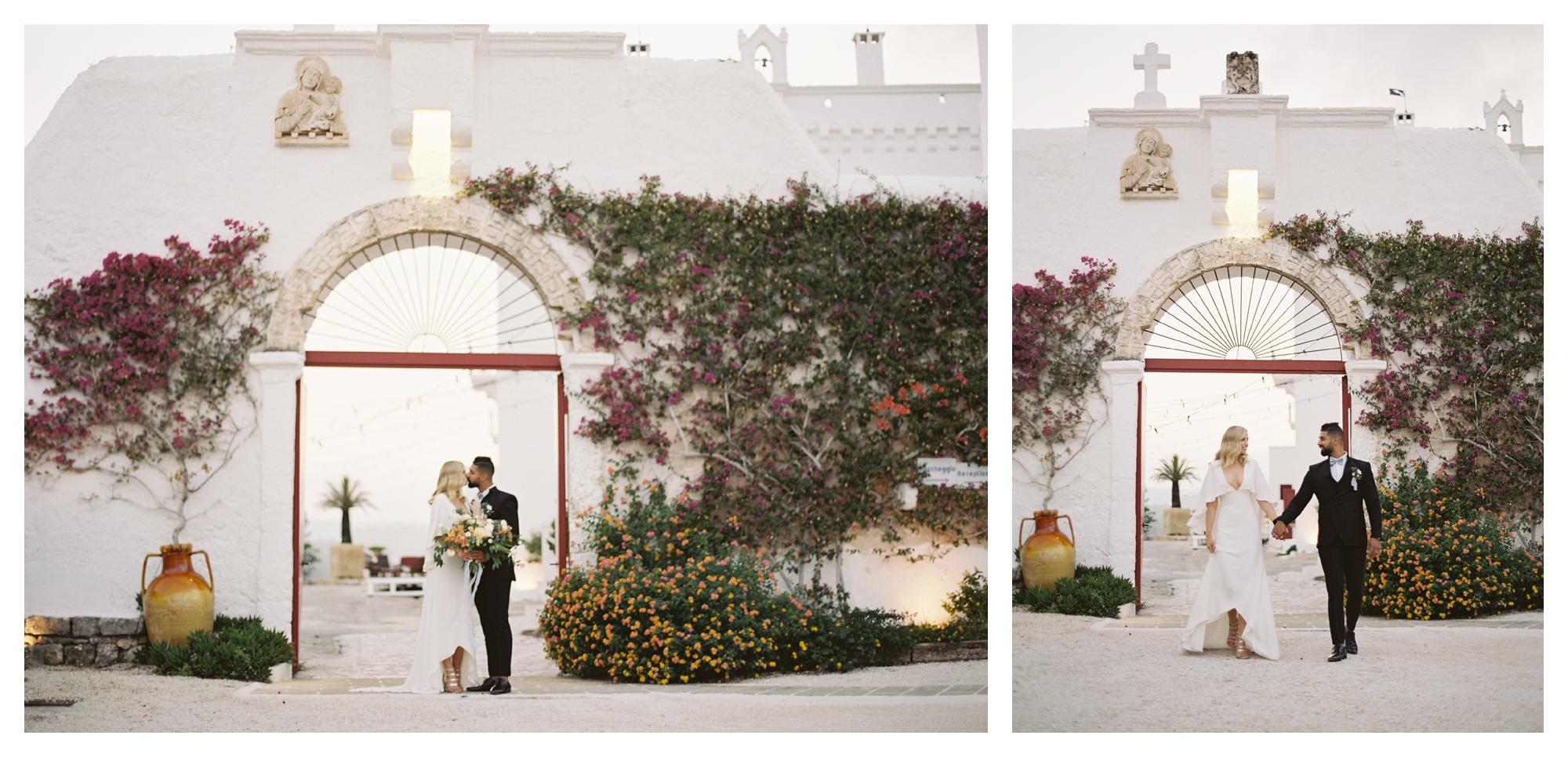 masseria torre coccaro wedding, bride and groom, destination wedding puglia, italy wedding