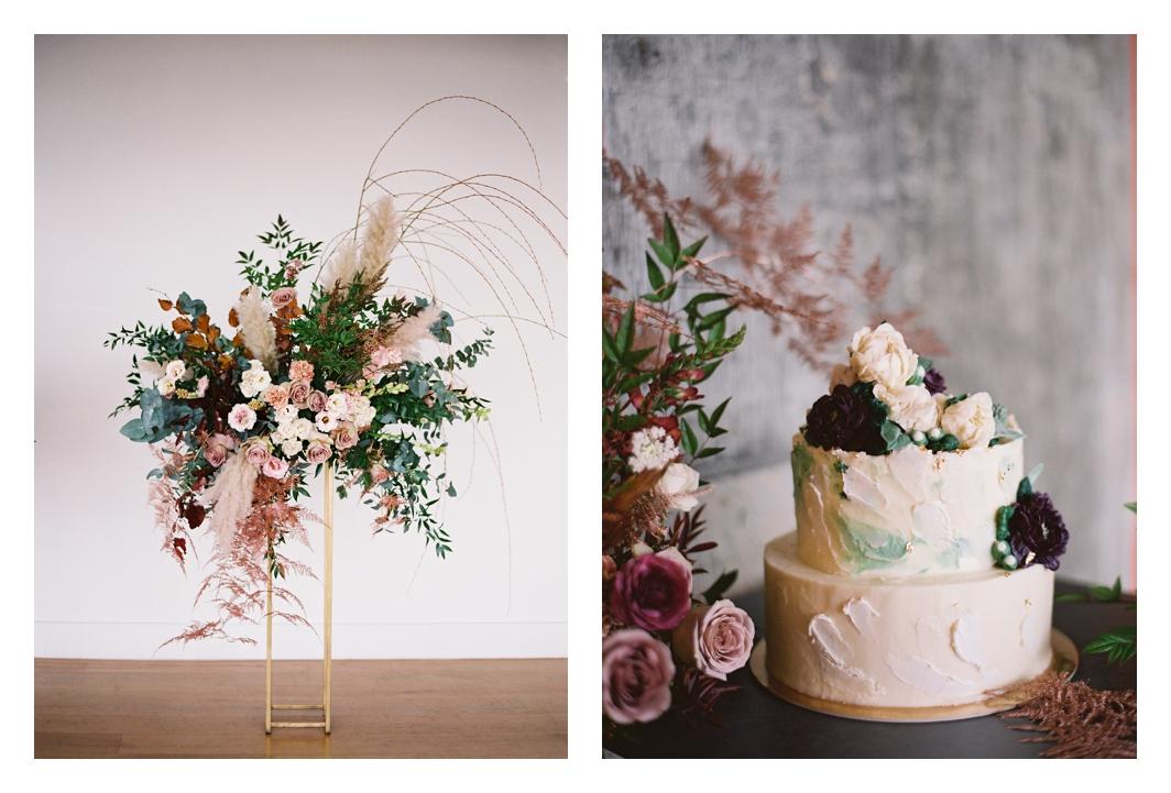 buttercrream flowers cake, wedding cake, wedding flowers