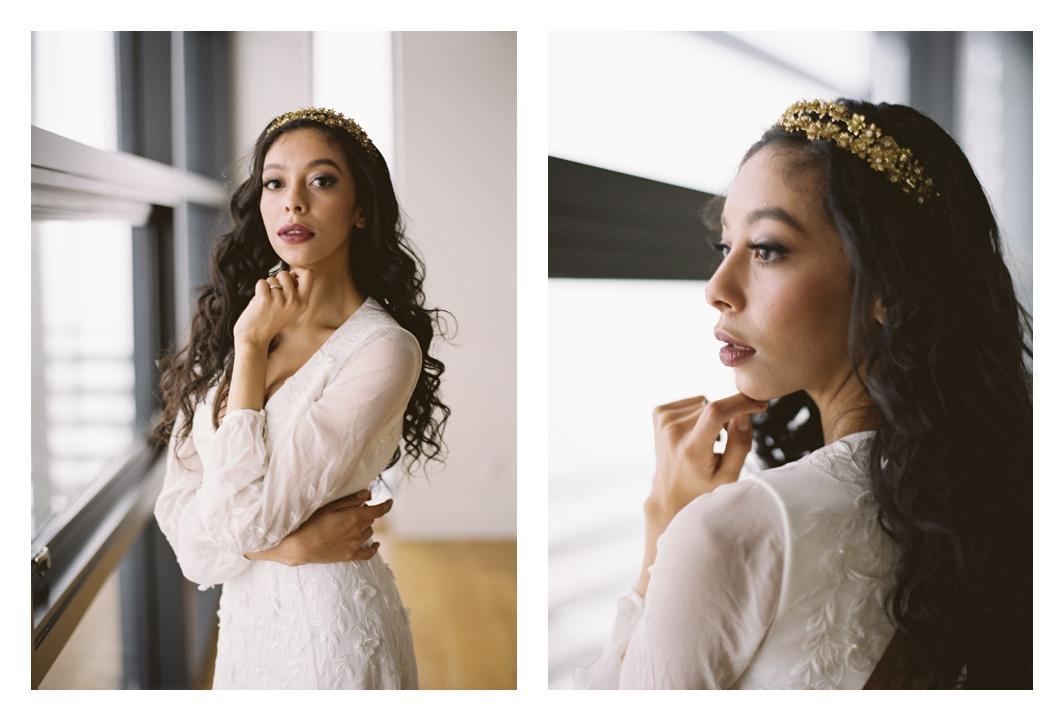 bride portrait, hairpiece