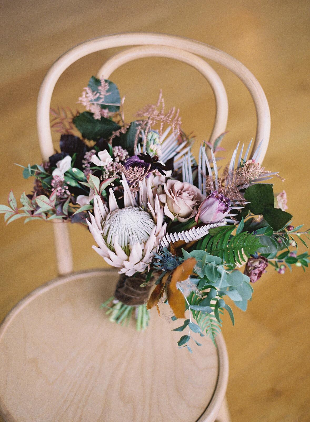 winter-wedding-bouquet-Protea-williamsburg-photo-studios