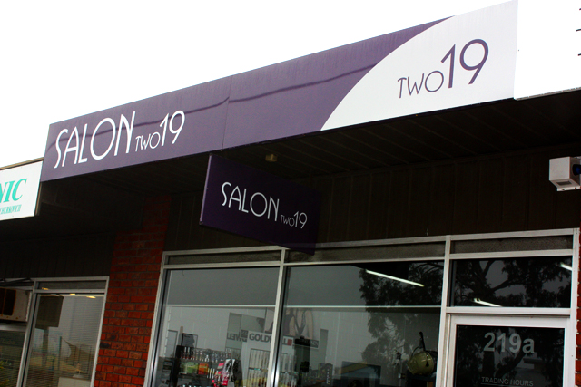 Salon Two19 signs Geelong.JPG
