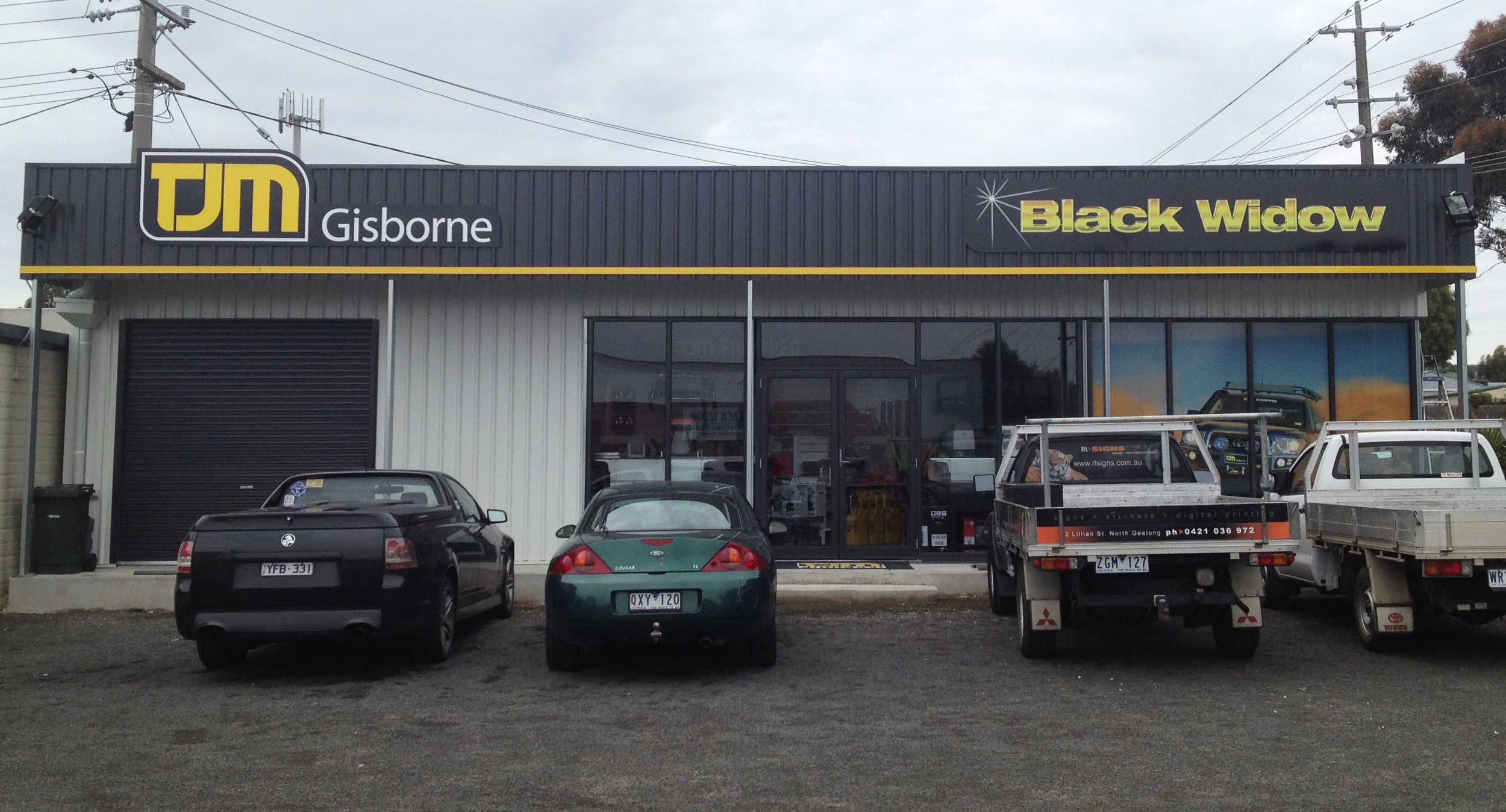 TJM Black Widow Gisborne 1 Signs Geelong.jpg