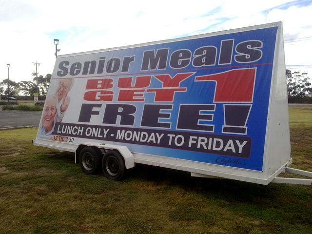 Castellos Senior Meals Trailer AFrame Signs Geelong.jpg