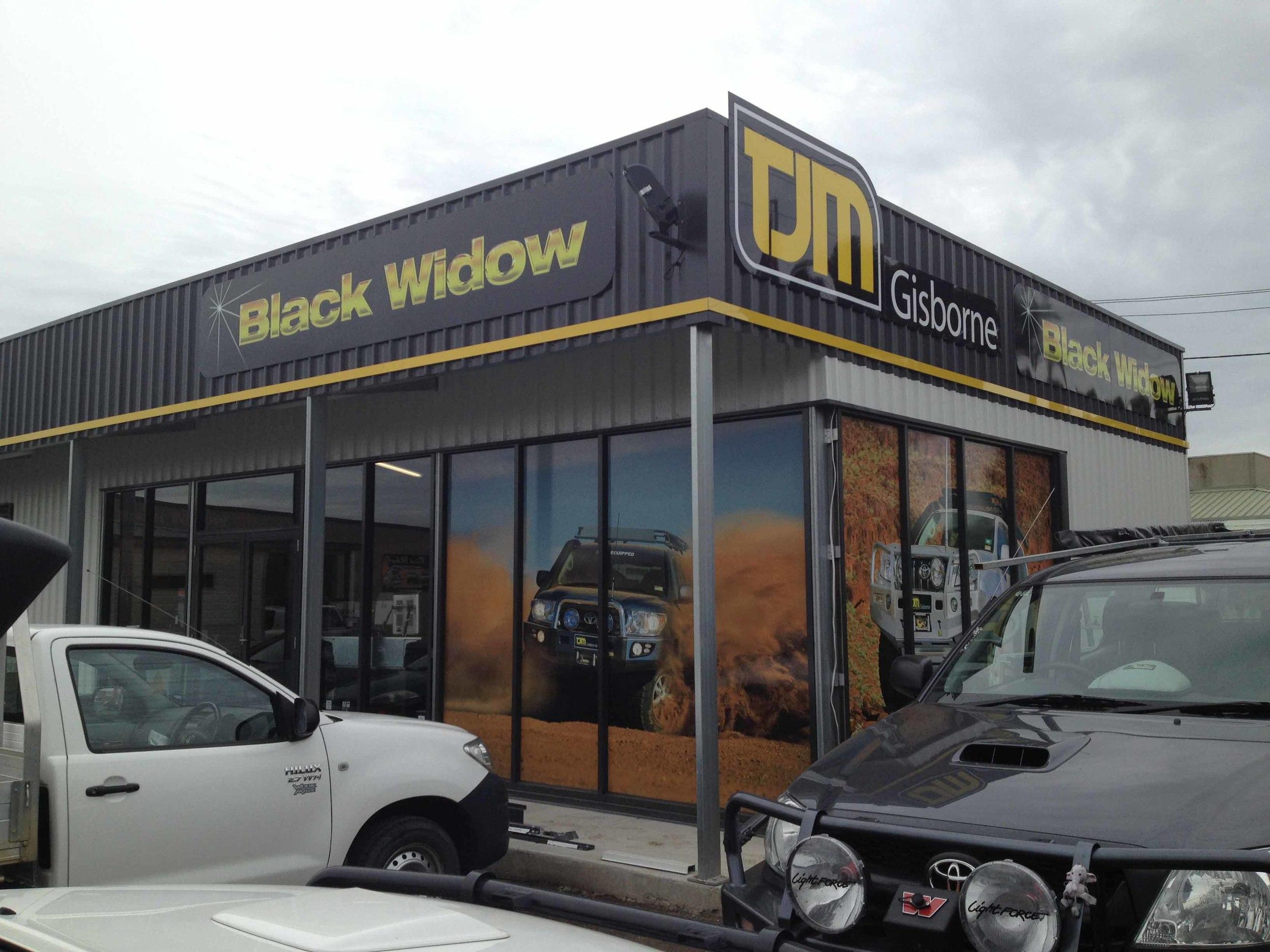 TJM Black Widow Gisborne 2 Signs Geelong.jpg