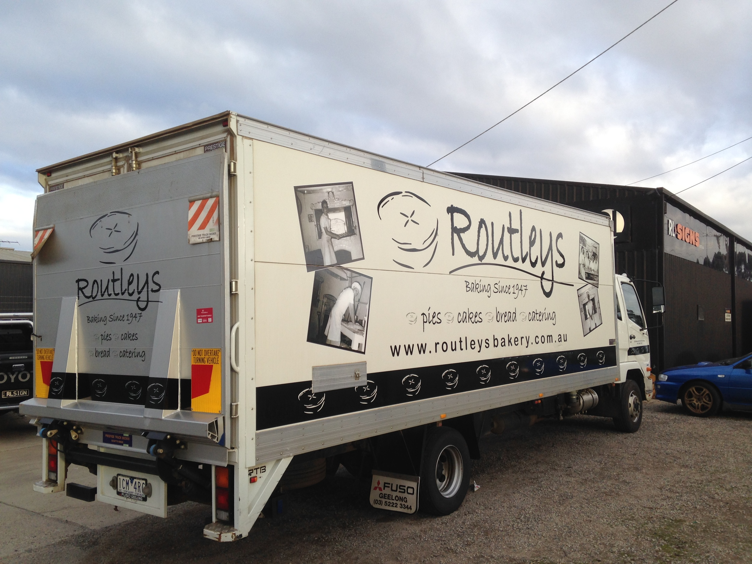 Routleys Bakery Truck Signage
