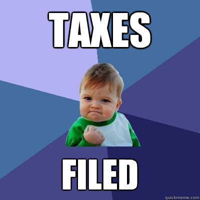 Happy Tax Week everybody! Here's some useful information on everyone's favorite subject!
