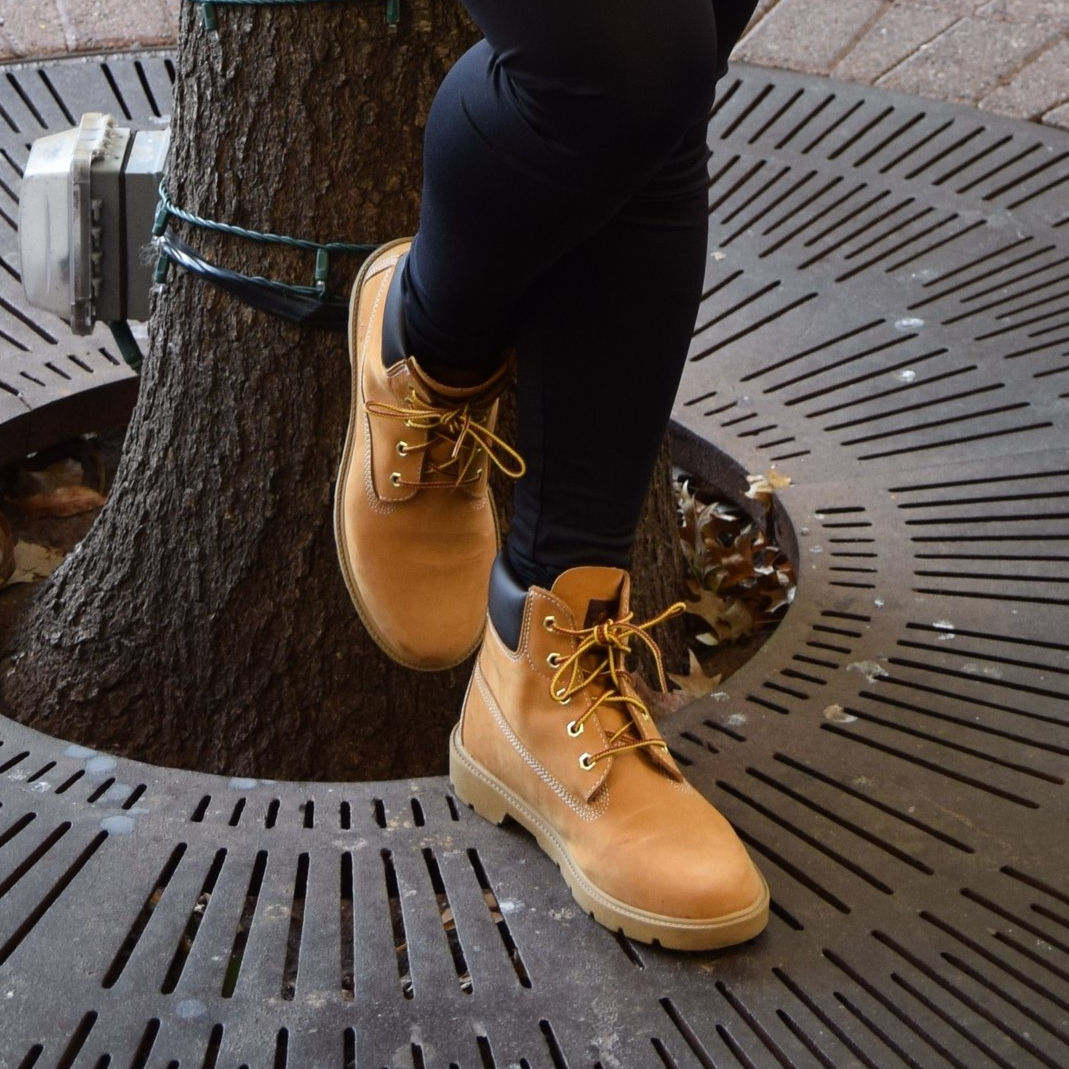 """""""Butter"""" Tims - the iconic neutral boot that will add color, character, and style to any casual look. When in doubt, these are faithful go-tos."""