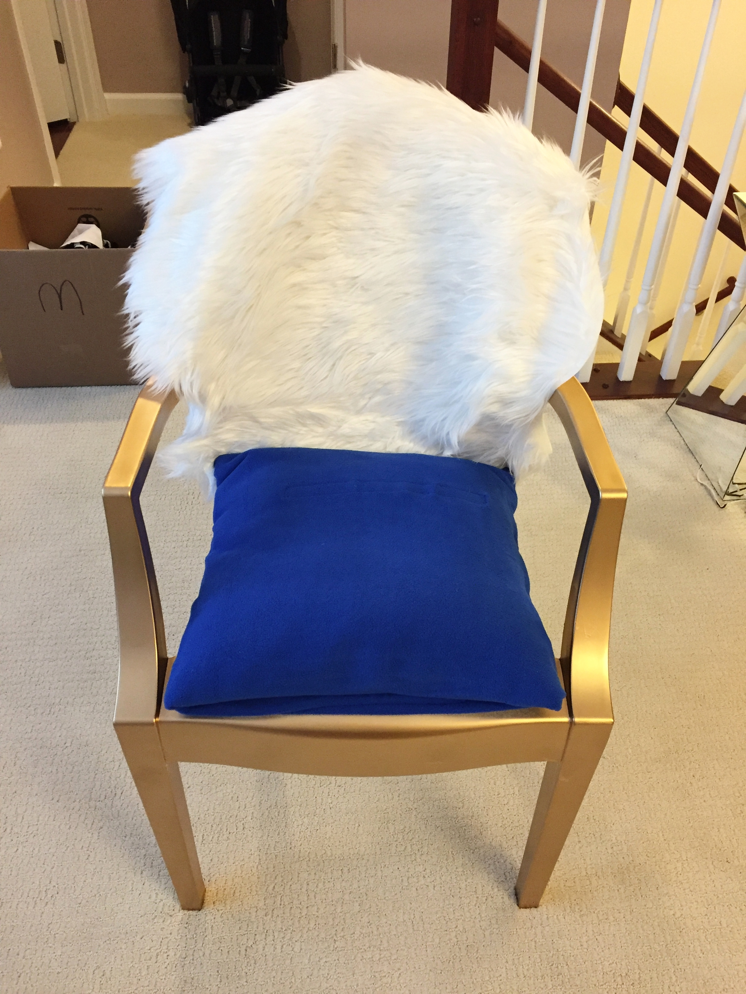 Small pillow as a seat cushion, $6-$20 at Homegoods or Target