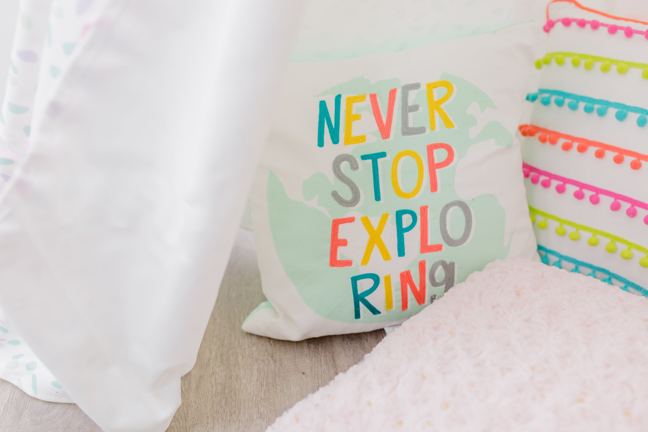 Fun pillows from Target and Marshalls