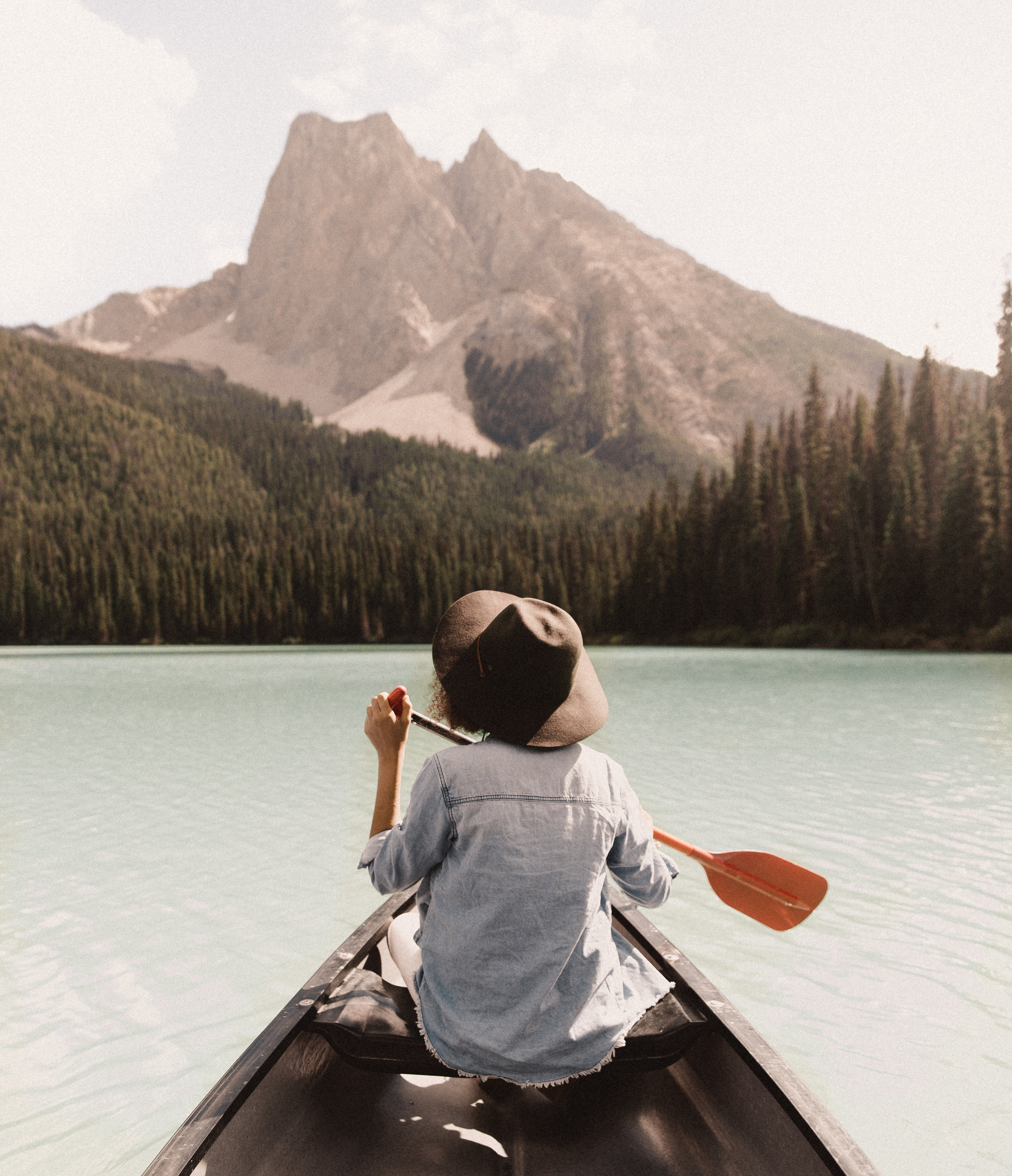 september — paddling through emerald water in banff? worth it.