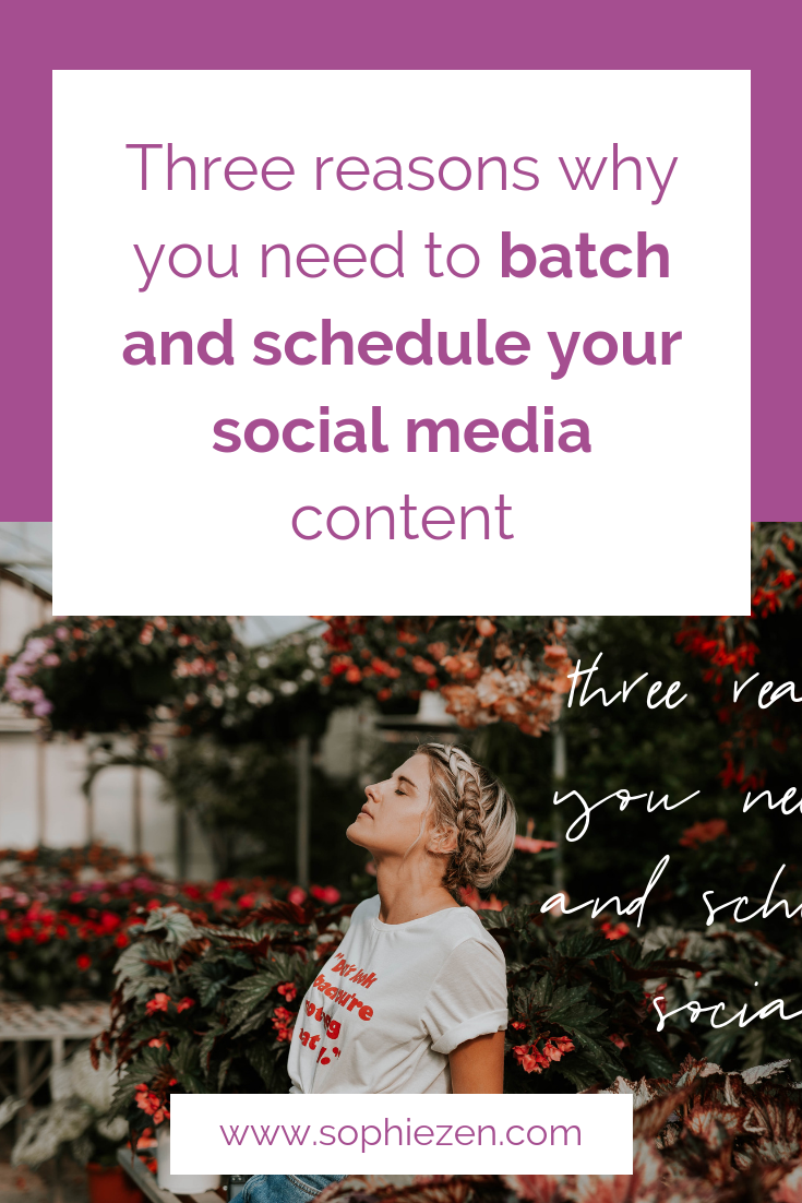 Three reasons why you need to batch and schedule your social media content