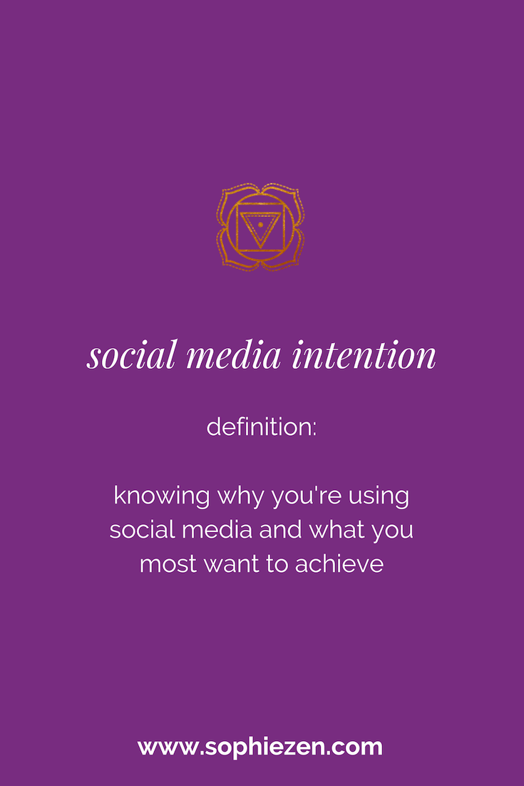 Sacred Social Media Intention