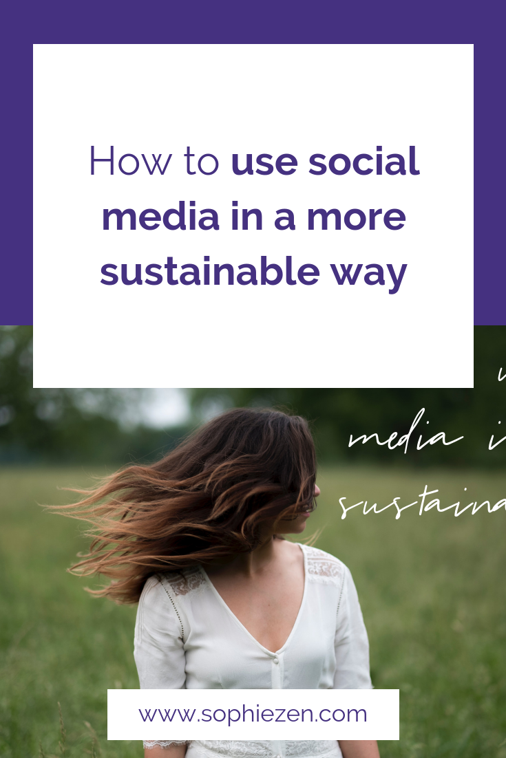 How to use social media in a more sustainable way