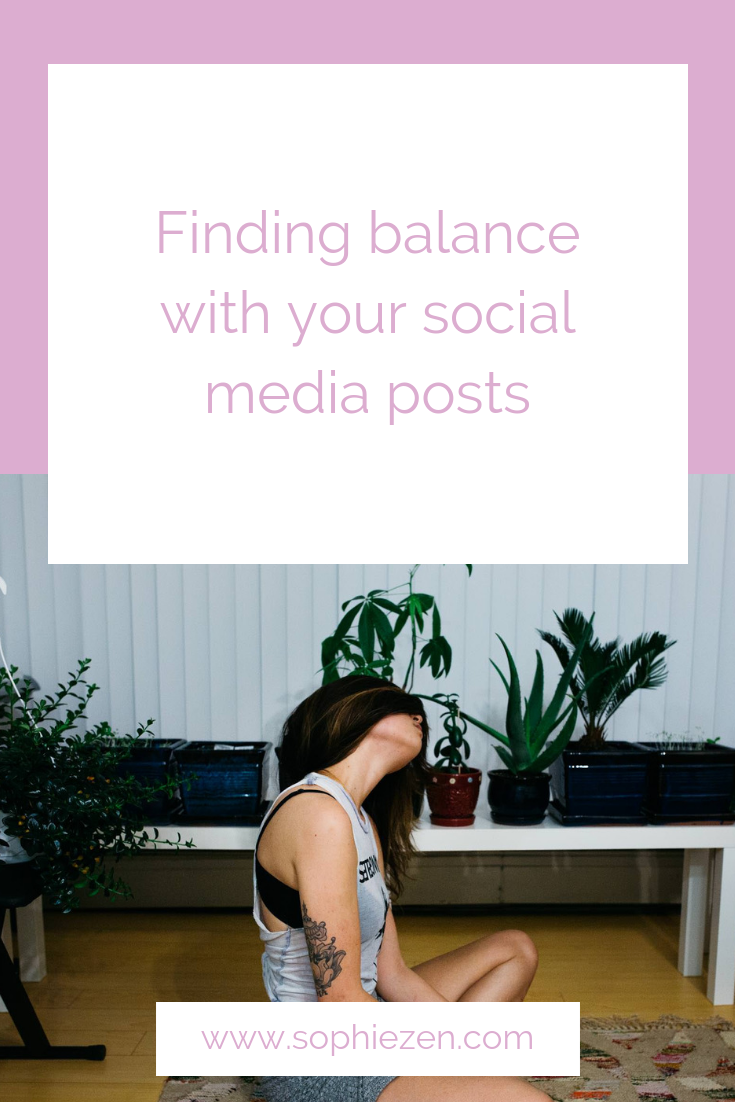 Finding balance with your social media posts