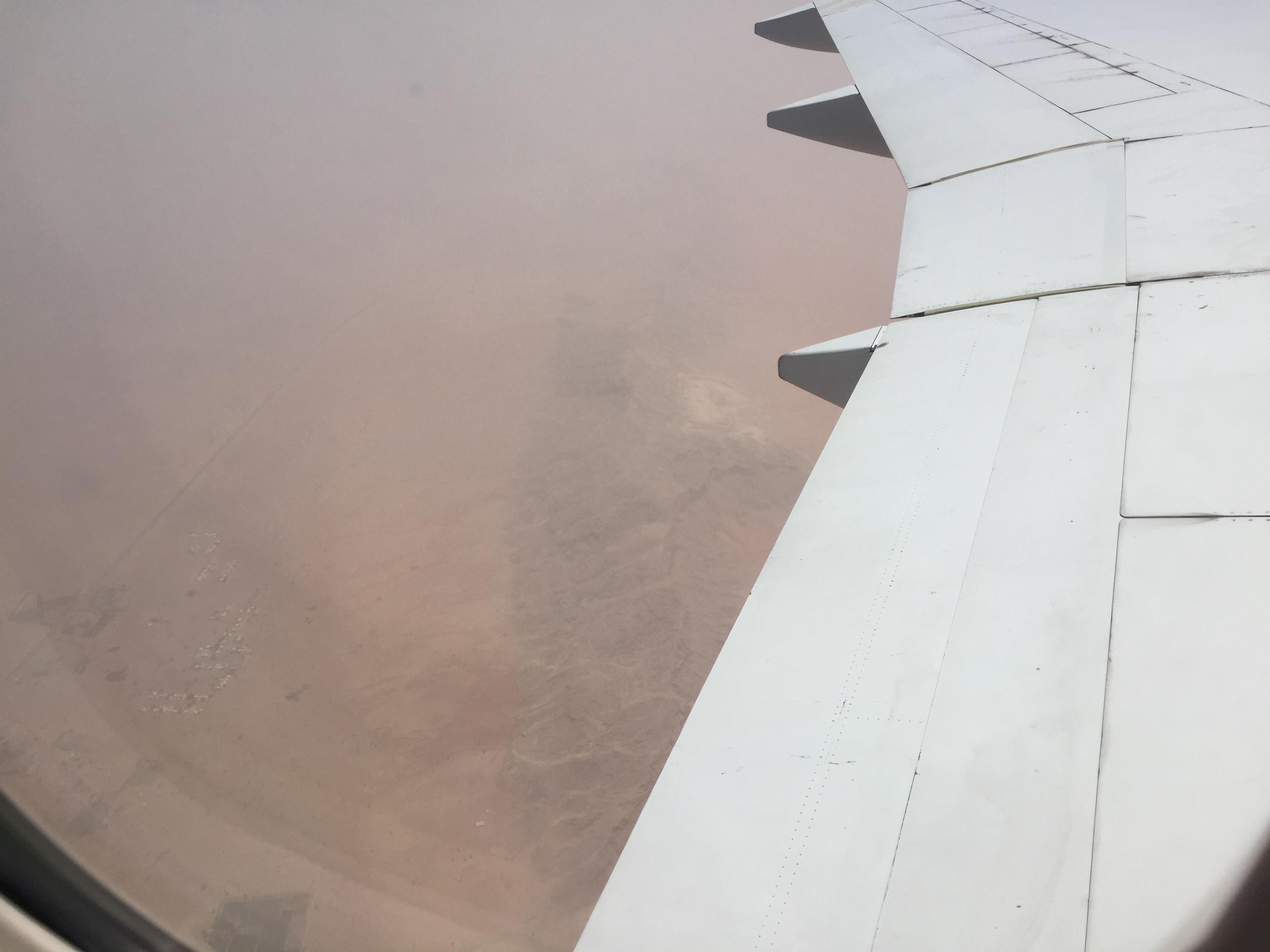 The mountains and dunes around Dubai.