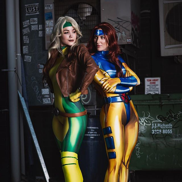 X Ladies hit Brisbane.  #xmen #darkphoenix #rogue #genegrey #cosplay #cosplaygirls #marvel #brisbane #spandex