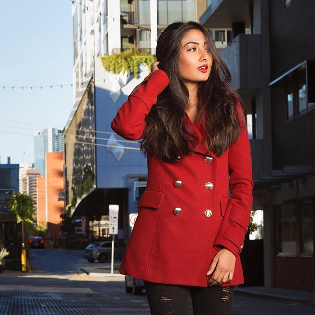 Lady in red with @darnialweera #redjacket #coat #fashion #stylist #browngirlmagic #brisbanemodel #brisbanephotographer #goldcoastphotographer #streetphotography
