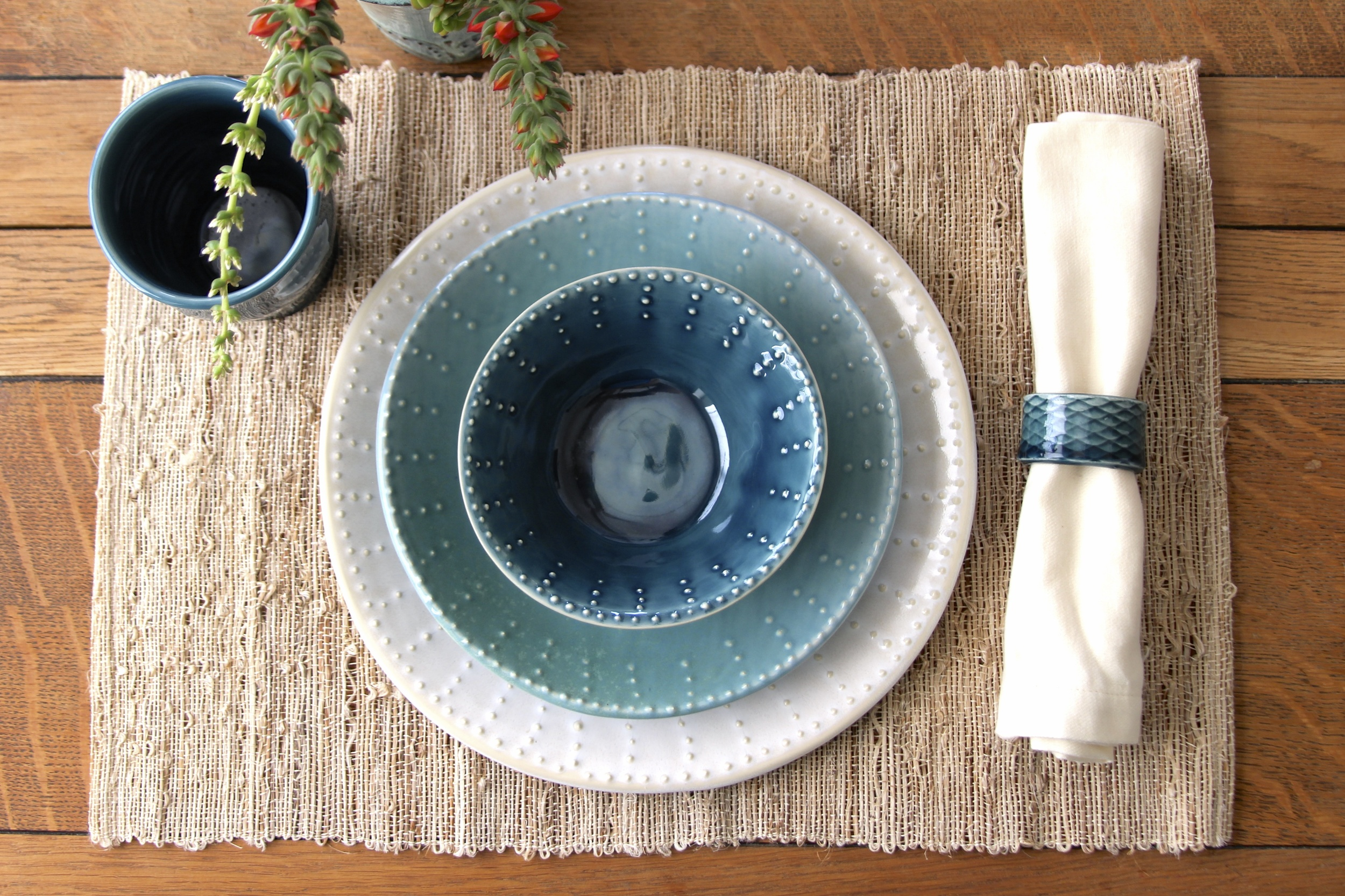 Blue Ombre Dinnerware Set