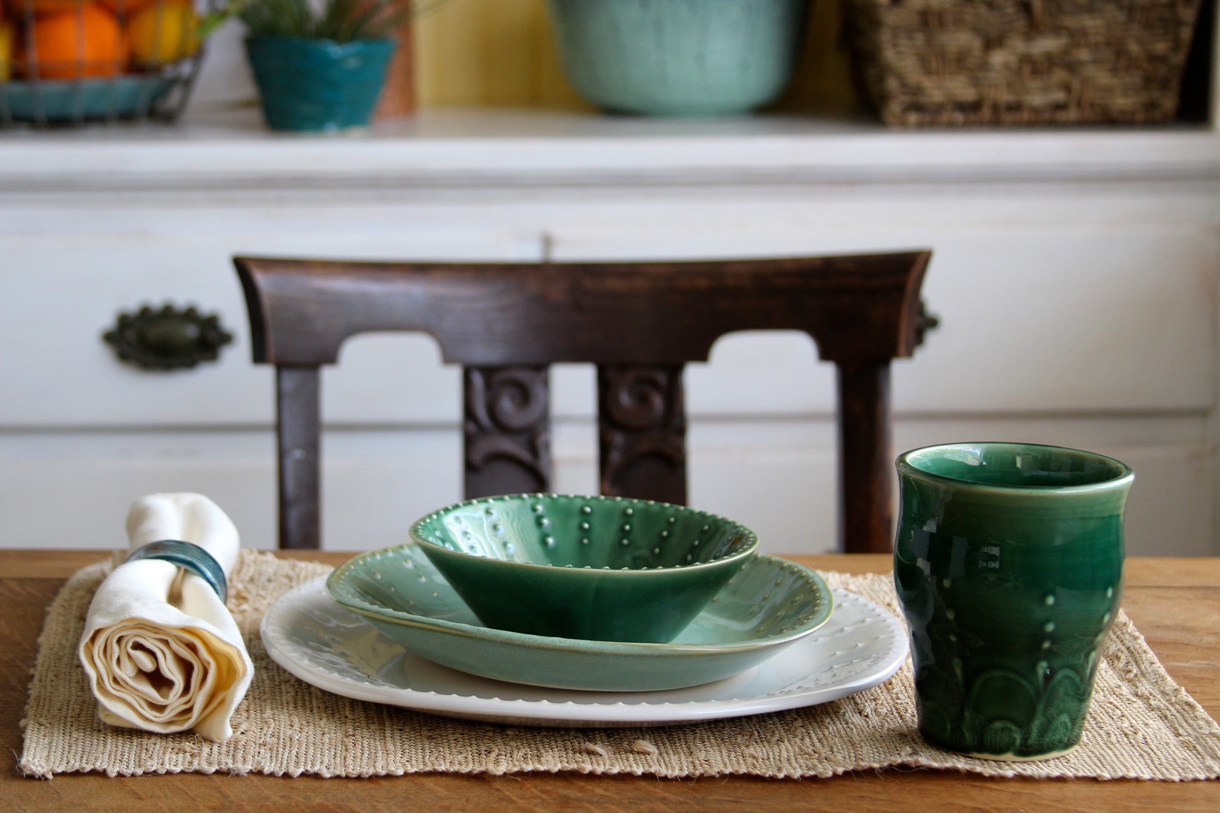 Emerald Green Ombre Dinnerware