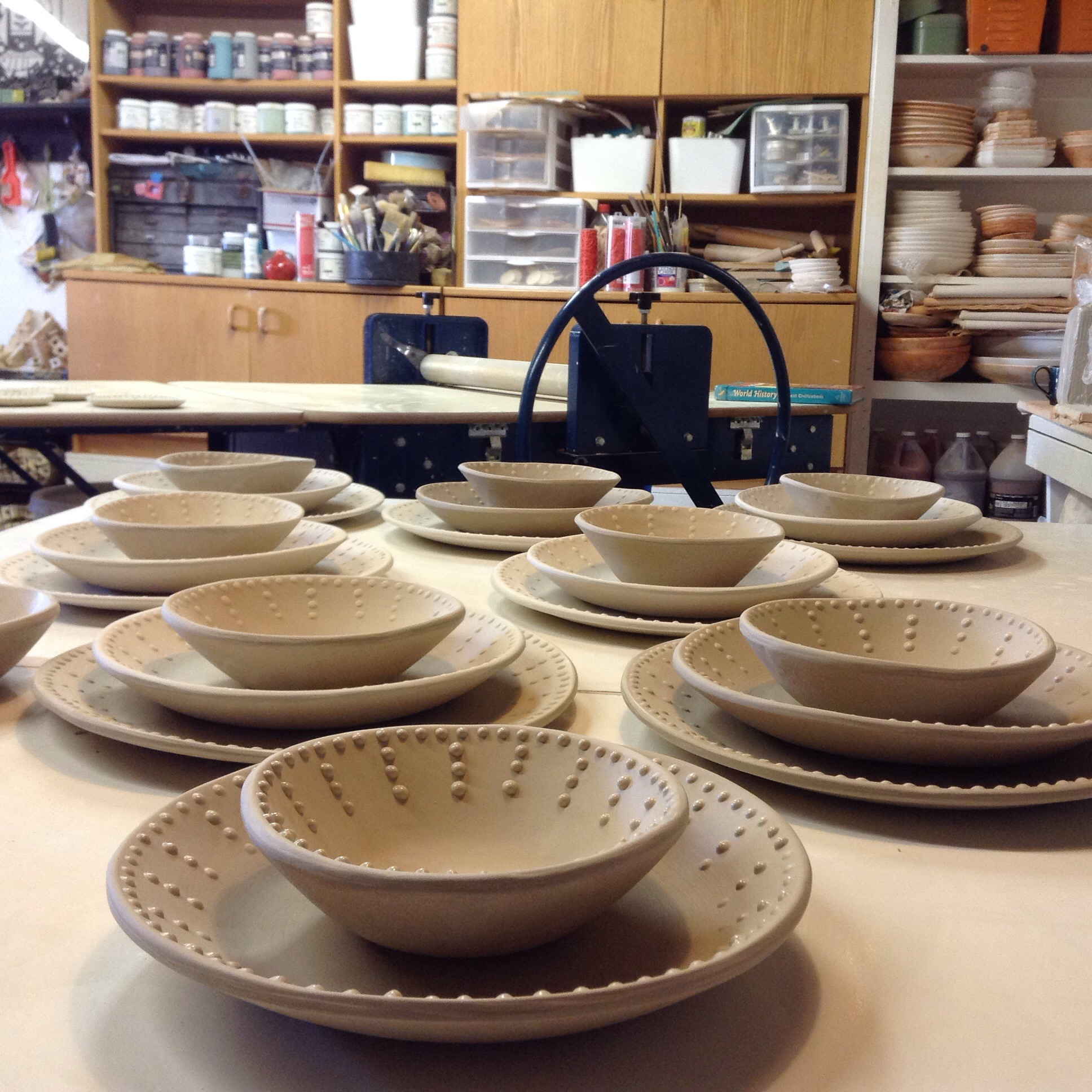 Drying Dinnerware...just sliptrailed