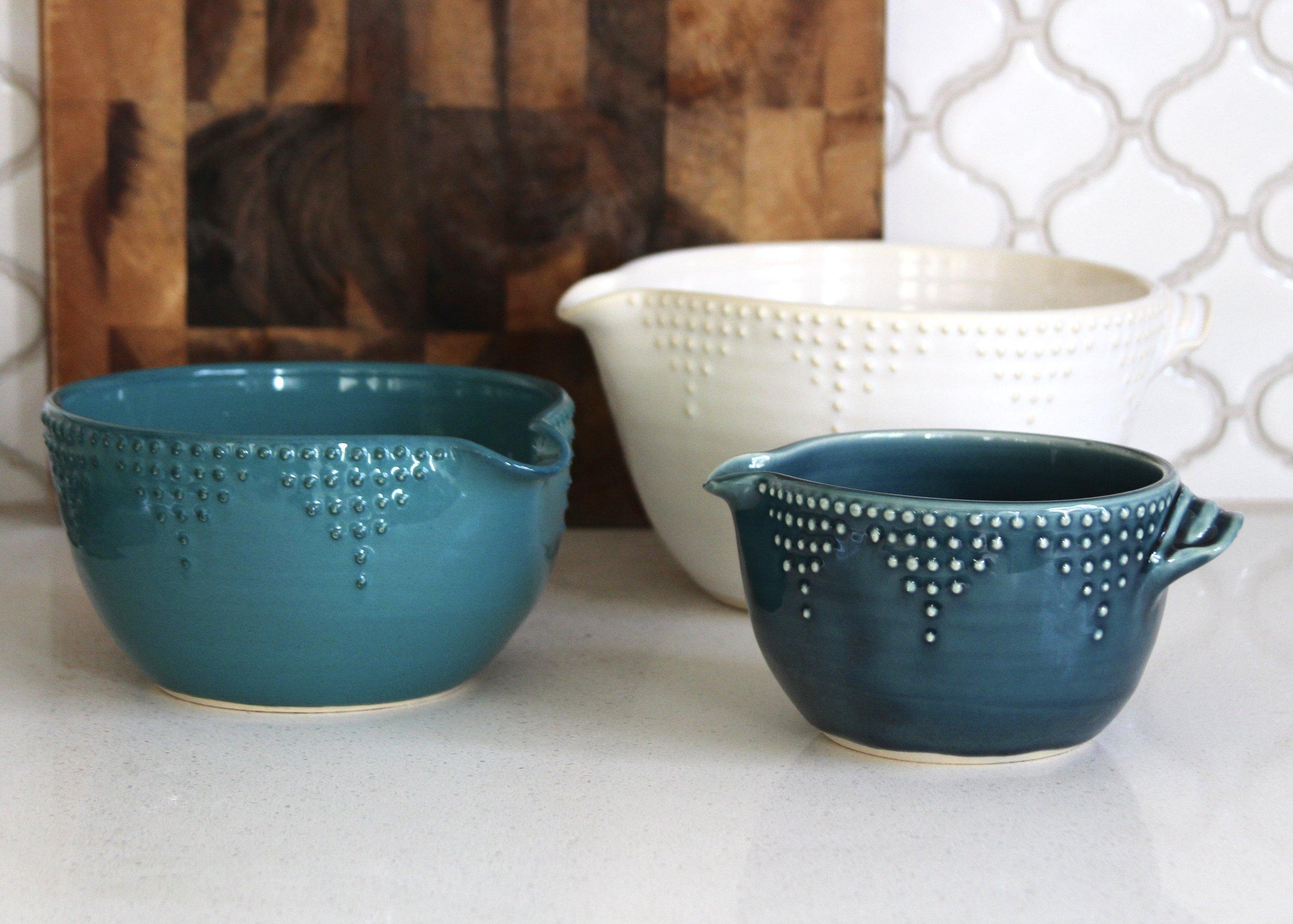Batter Bowls in Large, Medium & Small