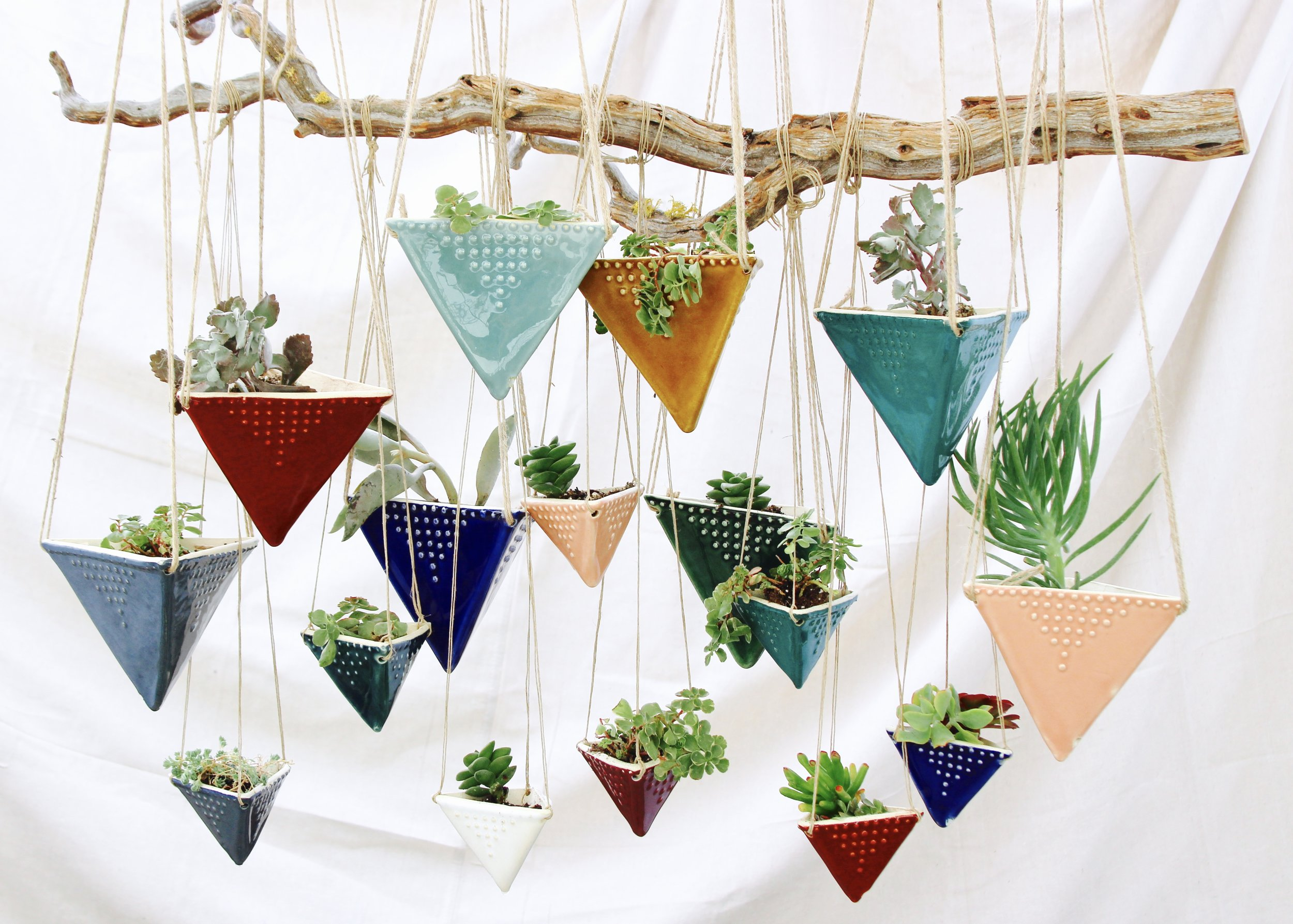 Triangle Hanging Planters