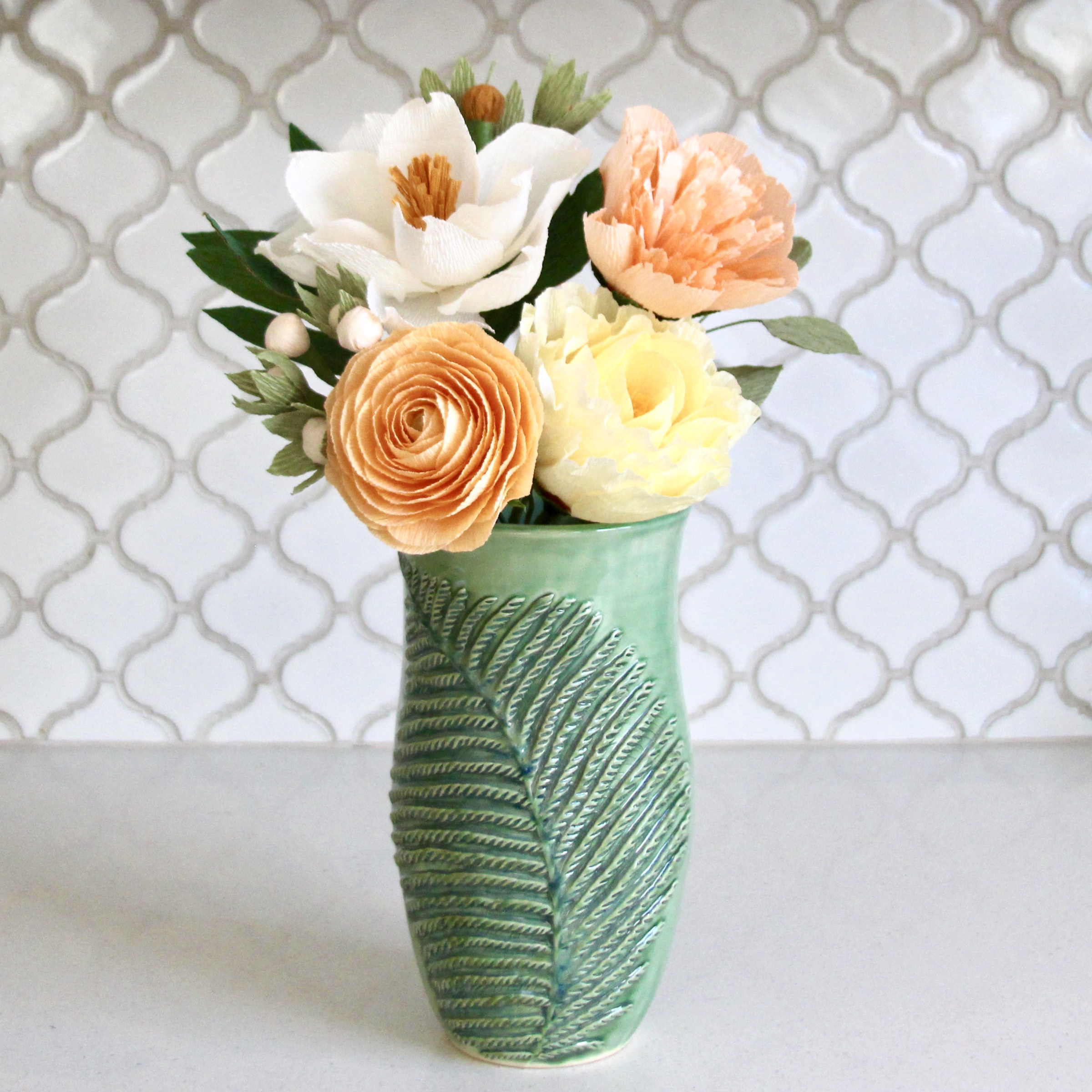 Fern Vase by Back Bay Pottery