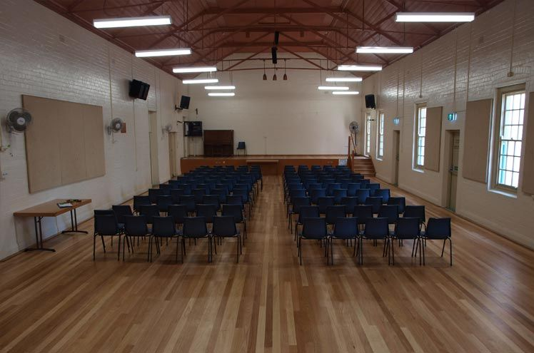 Before styling - the Abraham Mott Hall