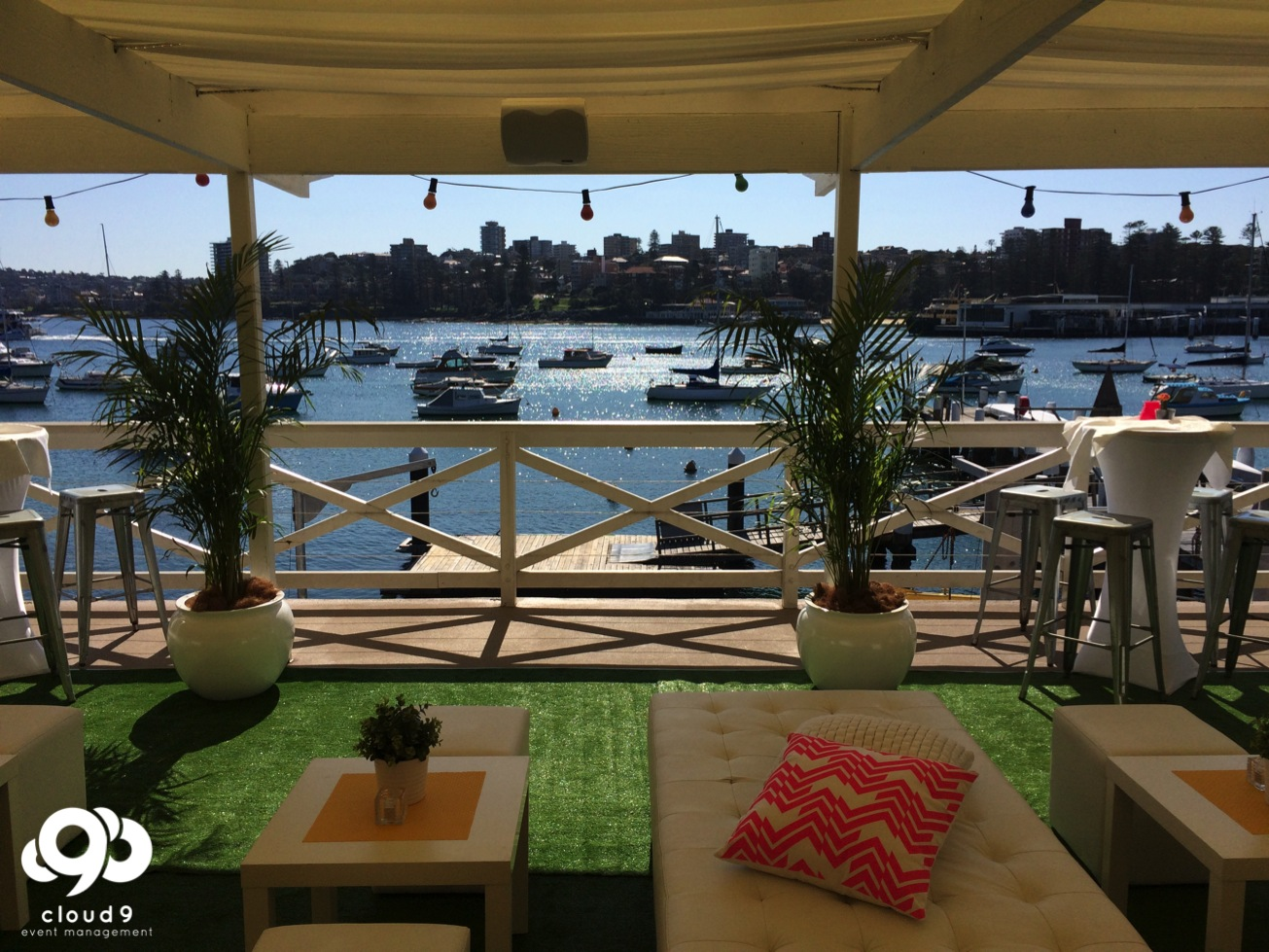 Cocktail Setting - overlooking Manly Wharf