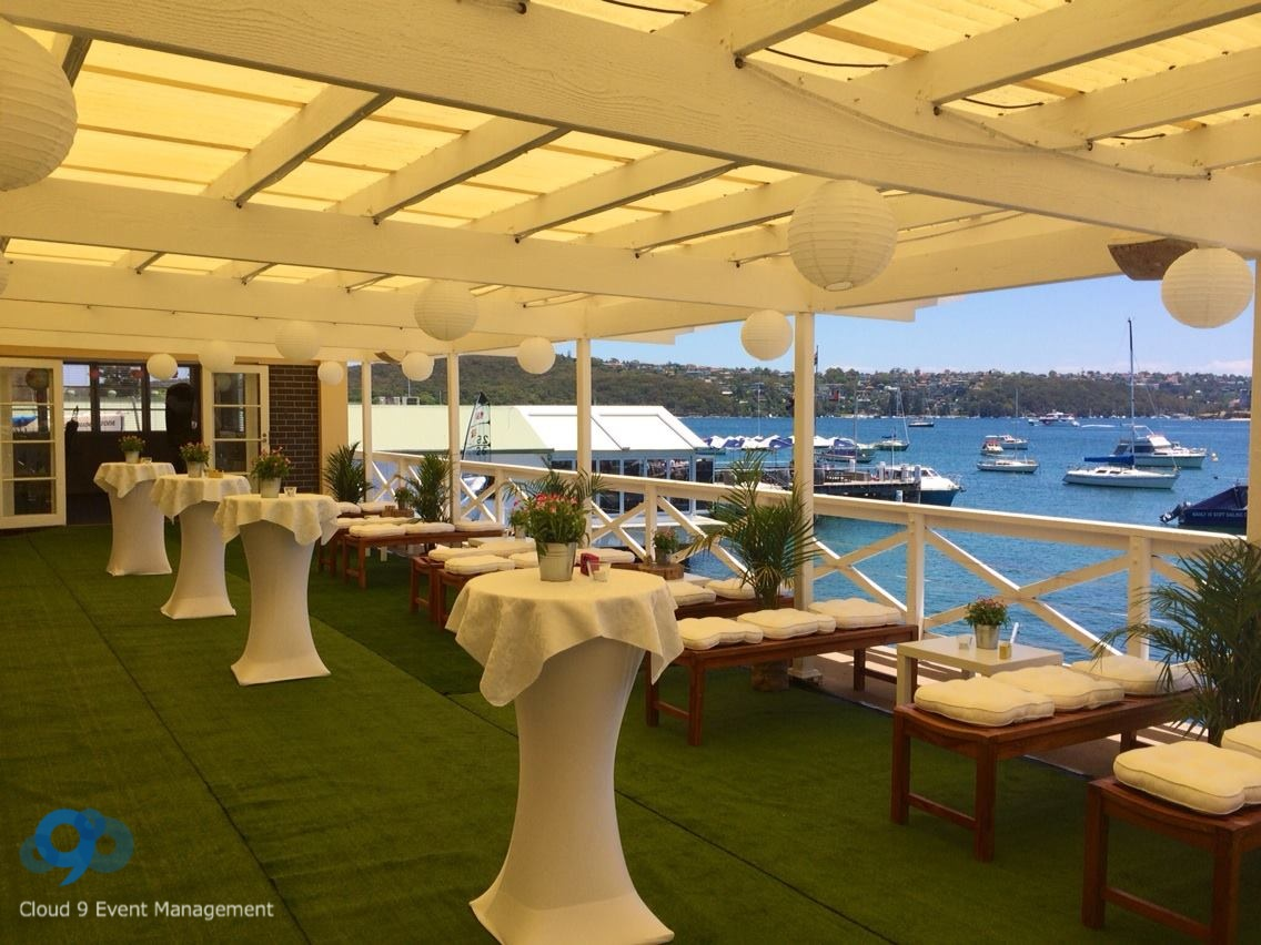 Cocktail wedding reception - overlooking beautiful Manly Wharf