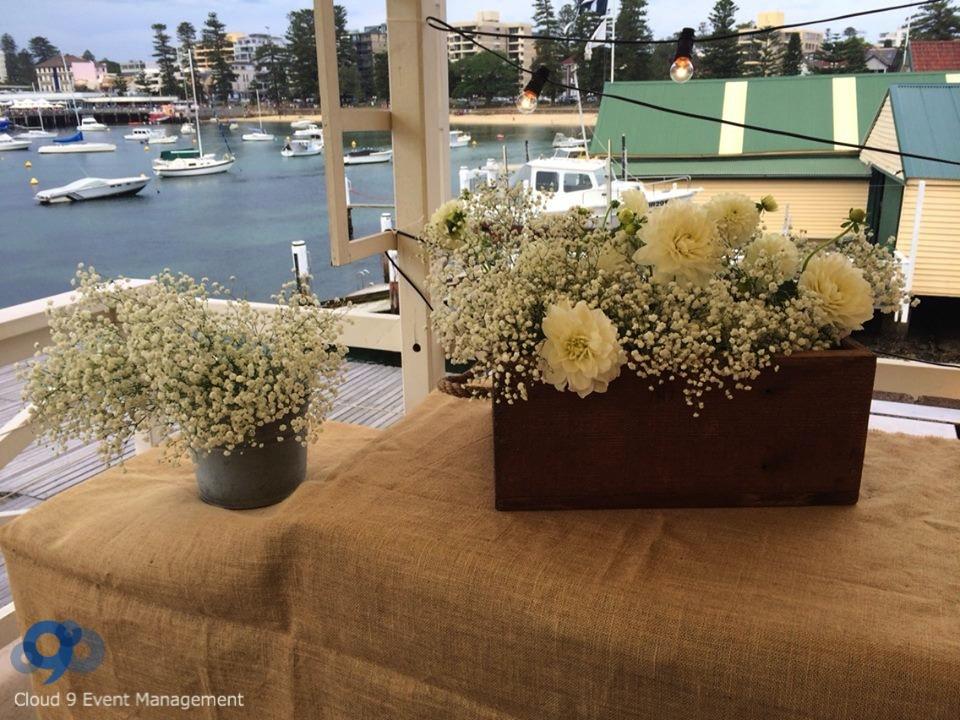 Stylish Decorations - flower pots & hessian