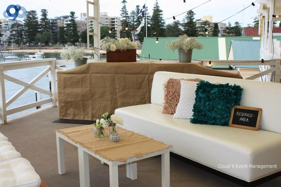 Wedding Reception - balcony set up