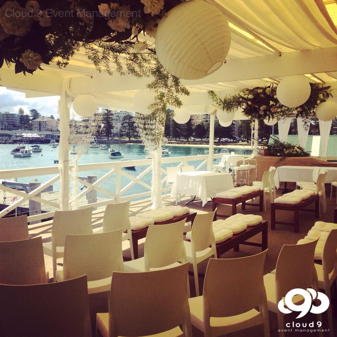 Balcony Wedding Ceremony - Manly Yacht Club