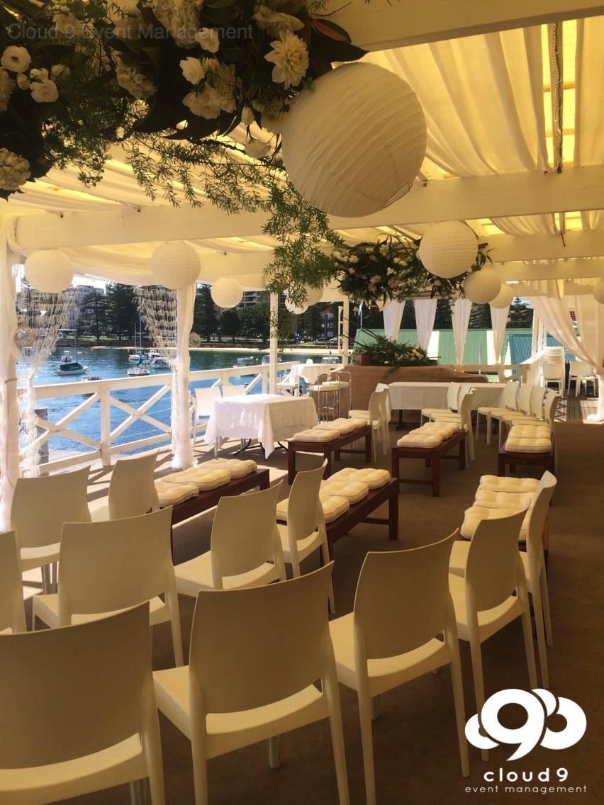 Wedding Ceremony - Yacht Club Balcony