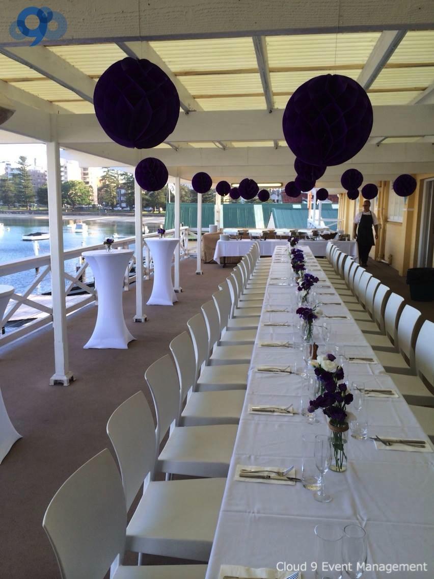 Balcony Wedding Reception - formal sit down