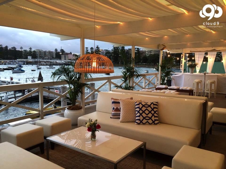 Yacht Club Balcony Styling - Wedding Reception