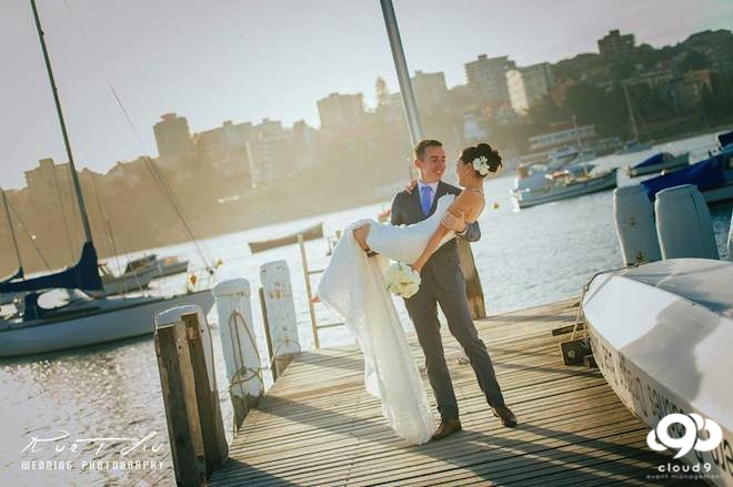 Dock photos with the Bride & Groom