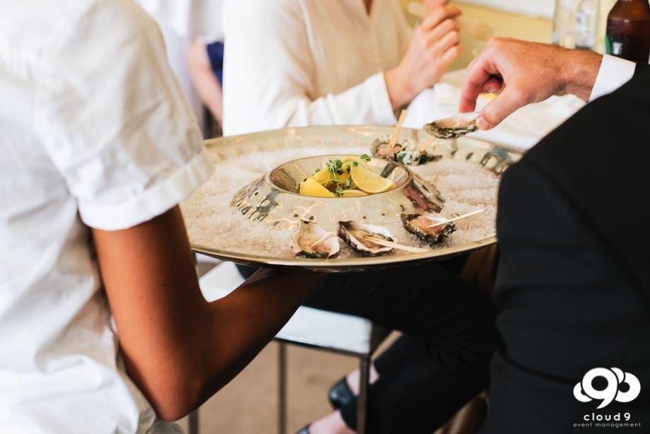 Oysters Canapés - wedding canapés