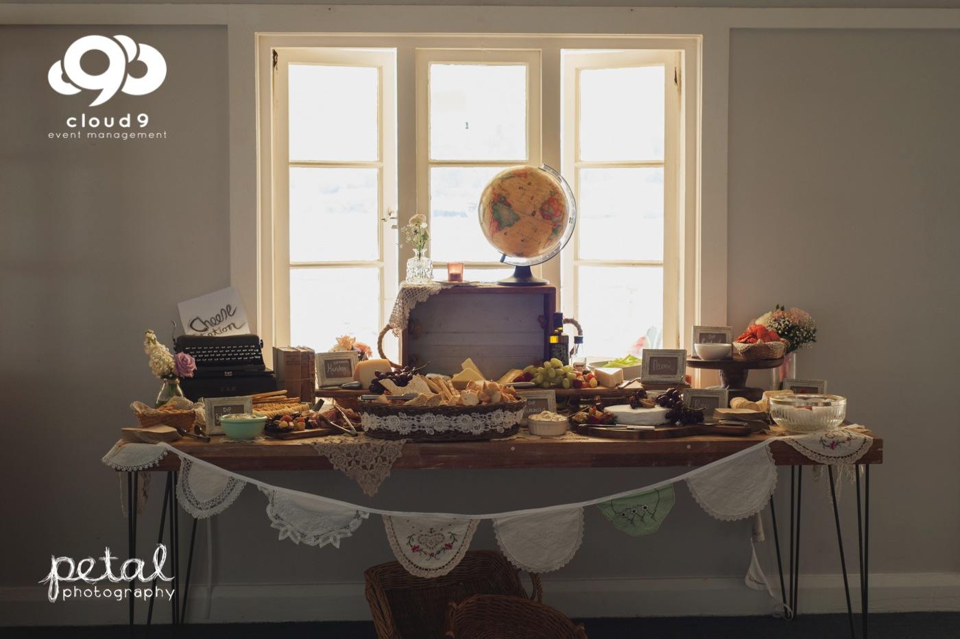 Cheese & cracker station - vintage theme