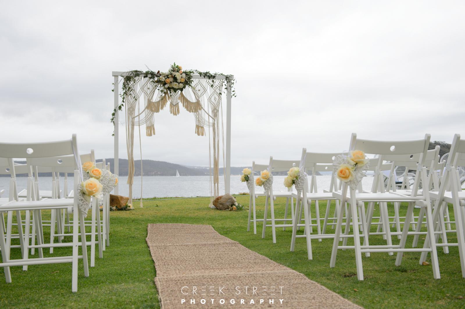 Wedding Ceremony Styling Palm Beach
