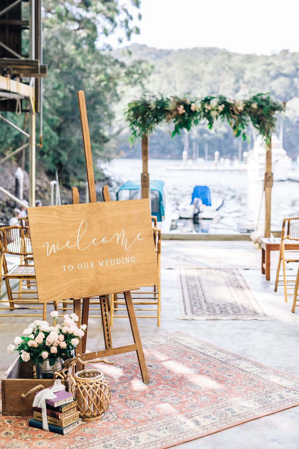 Wedding-Welcome-Sign-Rustic-Ceremony-Hire-Waterfront-Venue.jpg