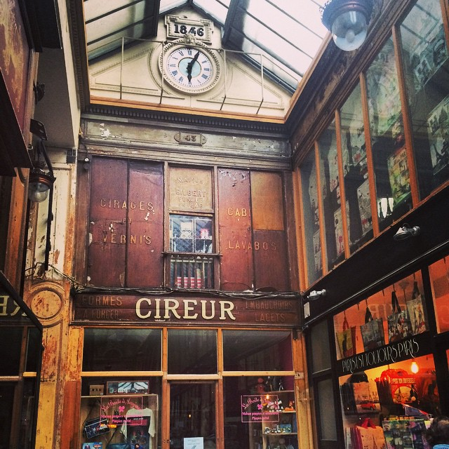 Passage Jouffroy, Paris.