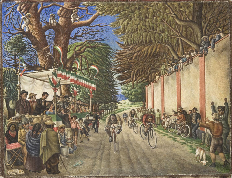 Antonio Ruiz,     Bicycle Race    , 1938 (Philadelphia Museum of Art)