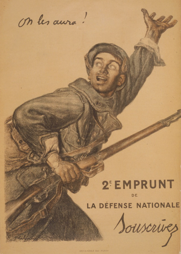 Abel Faivre,     On les aura!     ,  World War One poster, 1916 (Library of Congress)