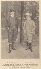 Two aristocrats who tried (and failed) to cross the Mediterranean aboard a balloon—Henri de La Vaulx (left) and Georges de Castillon de Saint-Victor (right).    La Vie au Grand Air , 20 October 1901, 615 (Gallica, BNF).