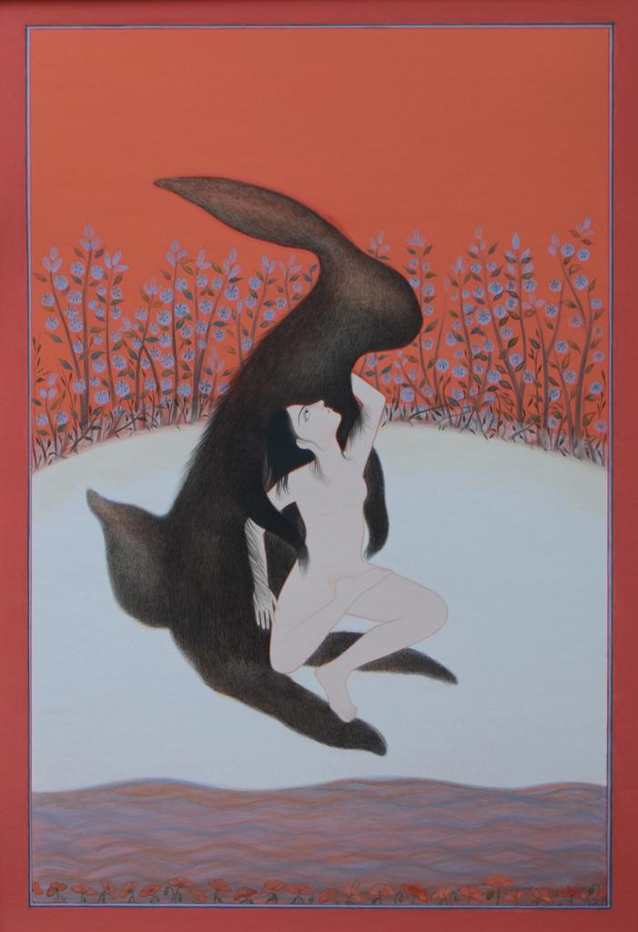 Untitled   Gouache on  Wasli  paper  20 x 30 cm  2011