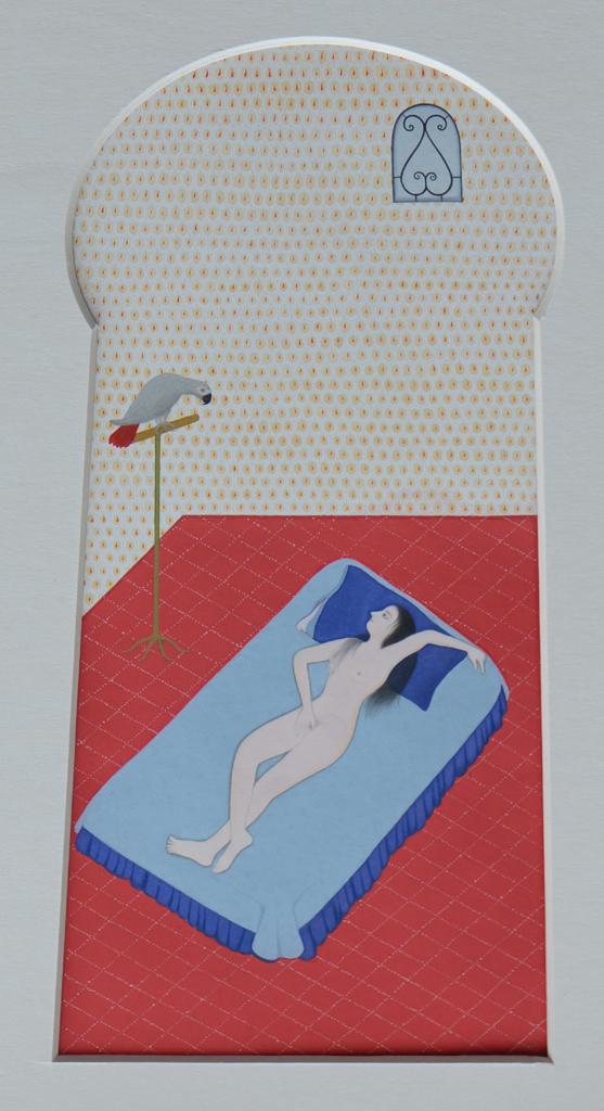 Untitled   Gouache on  Wasli  paper  12 x 24 cm  2011