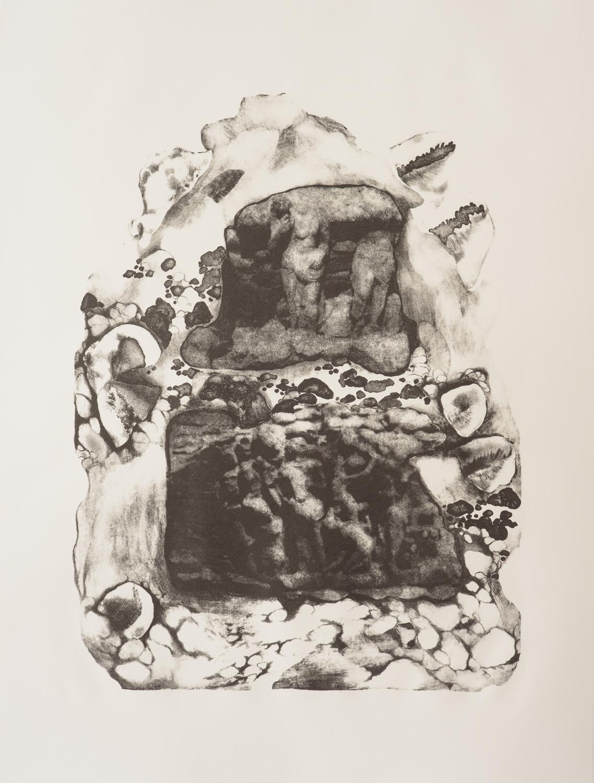 Purgatory   Lithograph on paper  56 x 76 cm  2016