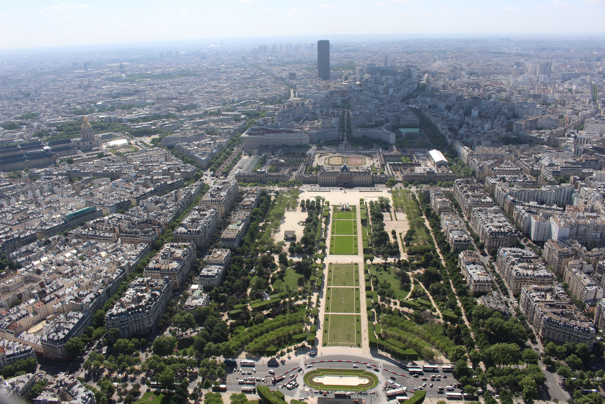 View from the top of the Eiffel
